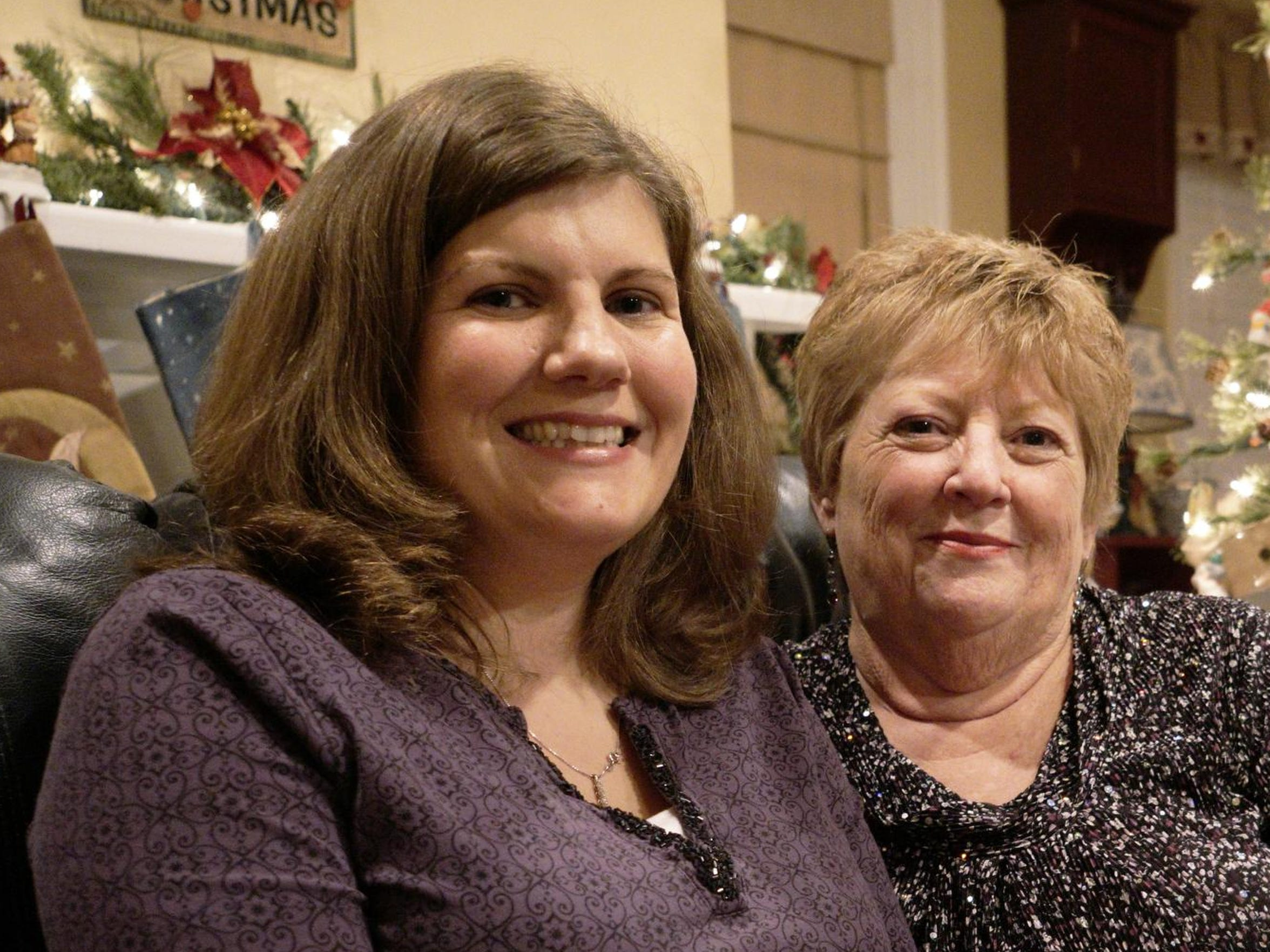 Jessica Martin, left, has donated her organs twice