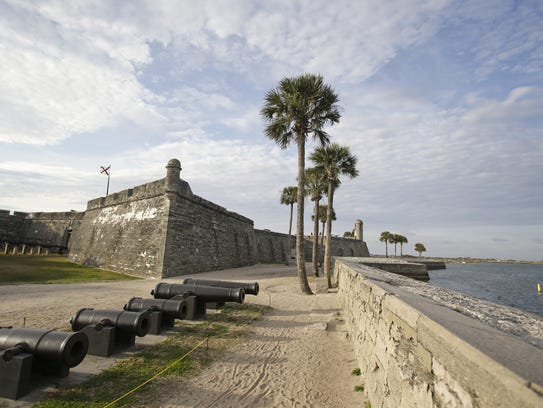 The Castillo de San Marcos fort, built more than 450 years ago, is a popular tourist destination in St. Augustine.