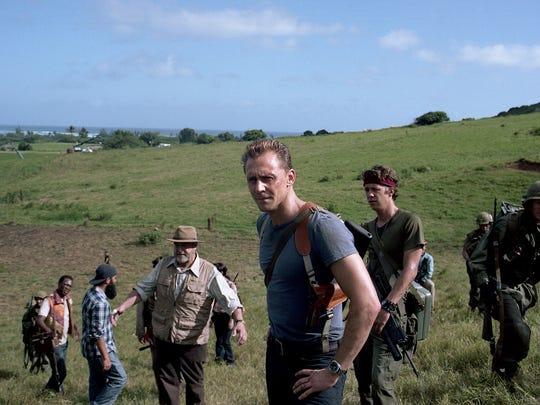 Tom Hiddleston at ease in between scenes of 'Kong: