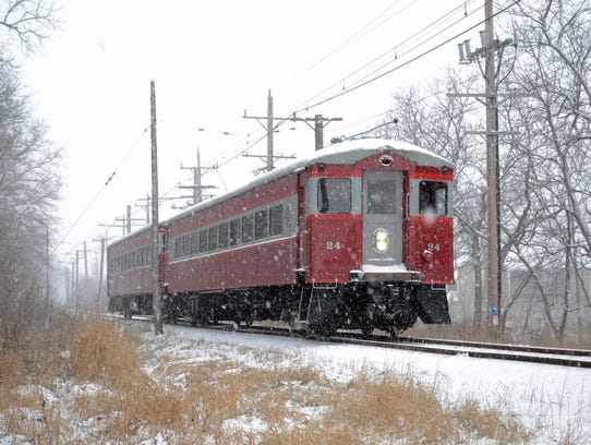 The East Troy Electric Railroad's Christmas Train runs