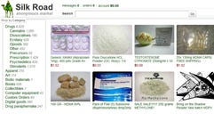 Products allegedly available through the Silk Road