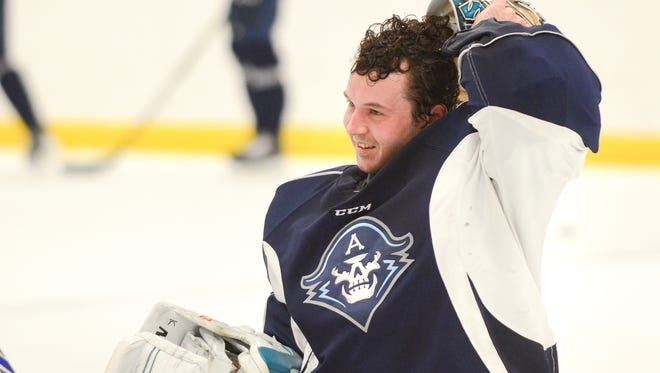 Goaltender Troy Grosenick, a Brookfield native, will be the first player who grew up in the Milwaukee area to be a member of the Milwaukee Admirals.
