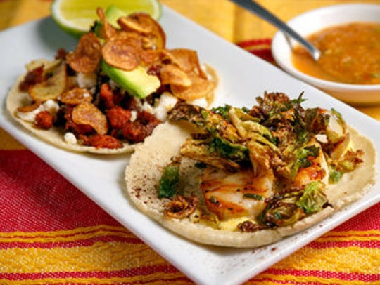 A variety of gourmet tacos is served at Villabolos