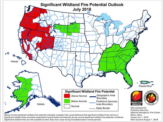 Most of Oregon is at elevated risk for wildfire this summer.