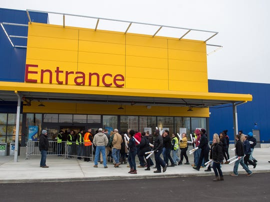 December 14, 2016 - People file inside of the IKEA Memphis store during an event marking the grand opening of the home furnishing retailer's new location. (Brandon Dill/Special to The Commercial Appeal)