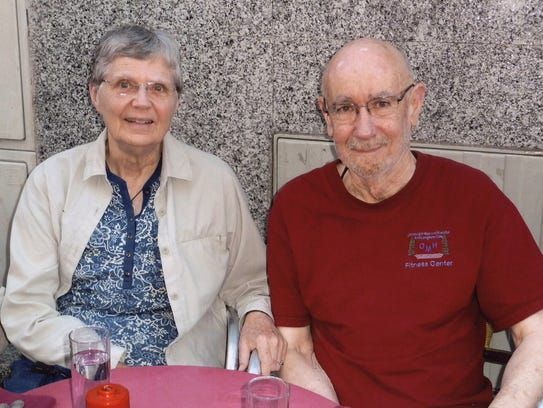 Shirley Lake of Madison is shown with her husband,