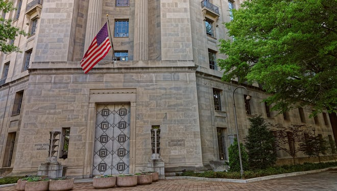 United States Department of Justice is located in Washington D.C.