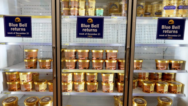 Blue Bell Ice Cream has returned to the shelves at Target on Youree Drive.  According to the CDC, there were 10 people infected in four states.