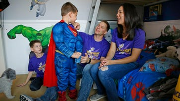 What makes a superhero? A 6-year-old boy who fought cancer knows