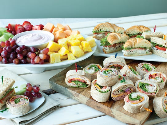A catering spread from McAlister's Deli.