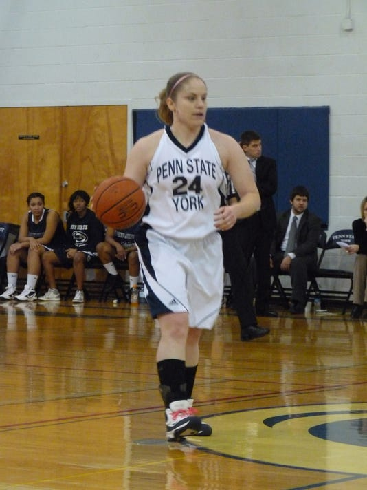 Penn State York senior Courtney Riggs is 56 points away scoring 1,000 in her collegiate career.