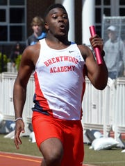 Brentwood Academy's Prince Momodu competes in the 400-meter
