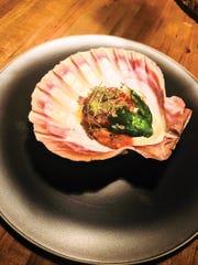 Seared scallop by chef Joseph Cipolla at The Kitchen.