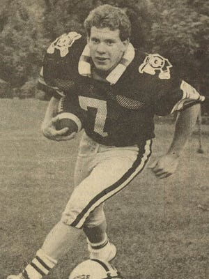 Blaine Toshner as he appeared on the front of The Reporter's football preview section in 1983.