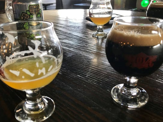 Our flight this day included NOLA Brewing's Irish Channel