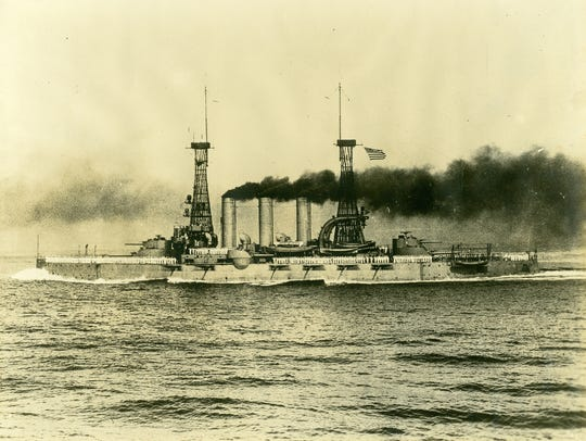 The USS Virginia, used as a troopship bringing soldiers