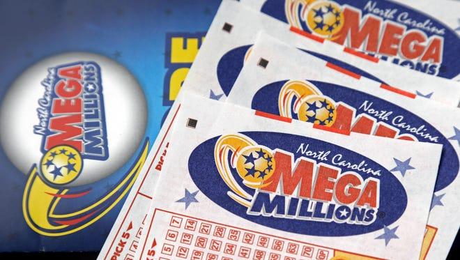 North Carolina Mega Millions lottery tickets.