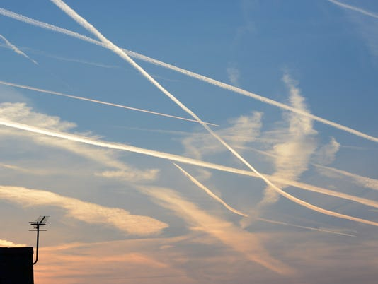 Aeroplane Trails and Aerial