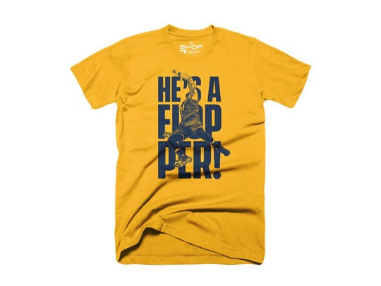 """""""He's a Flopper"""" tee from The Shop Indy."""
