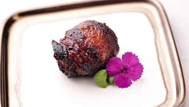 Chorizo Stuffed Bacon Wrapped Dates from Matt Zdeb of SumoMaya, as seen in Phoenix, on Sept. 5, 2014.