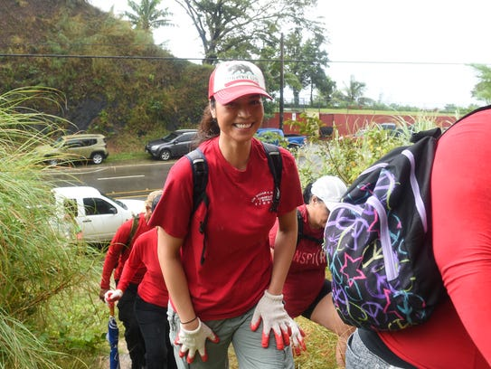 Gennie-May Whitt smiles for a photo at the Mt. Lam