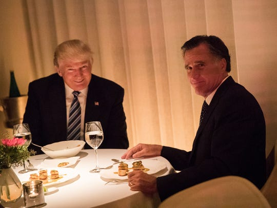 President-elect Donald Trump and Mitt Romney dine at