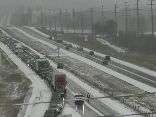 Officers divert traffic off Interstate 35 near Huxley