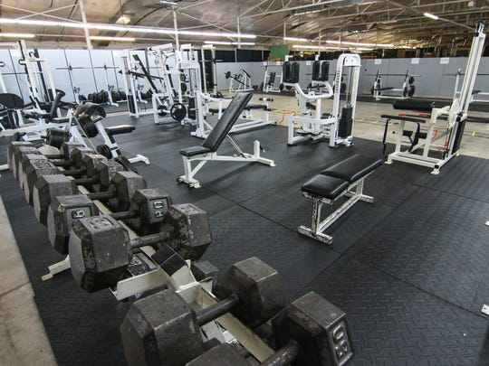 The Anderson University athletic campus weight room