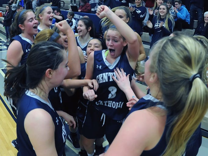 Scenes from Central Catholic as the Lady Knights win