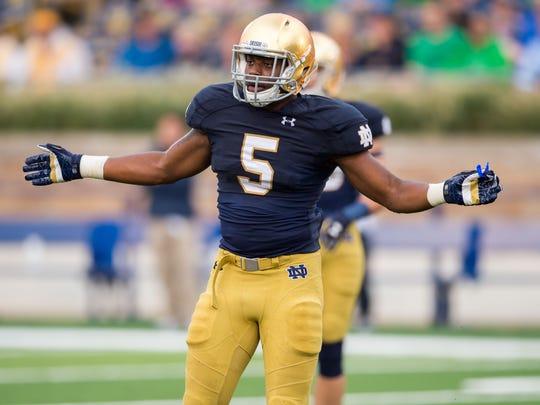 Notre Dame Fighting Irish linebacker Nyles Morgan will get a chance to replace injured Joe Schmidt.