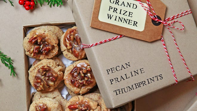 Pecan Praline Thumprints, this year's best of show cookie, would make a delicious gift.