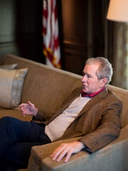 President George W. Bush speaks about his new book