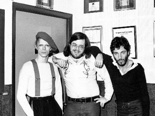 The Light of Day Foundation's Asbury Angels recently honored the late Ed Sciaky, center, a rock DJ who turned Philadelphia on to David Bowie, left, and Bruce Springsteen, right, in the early 1970s.