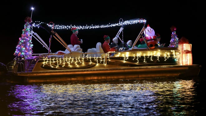 Lights make the Indian River County Christmas Boat Parade exciting to watch every year.