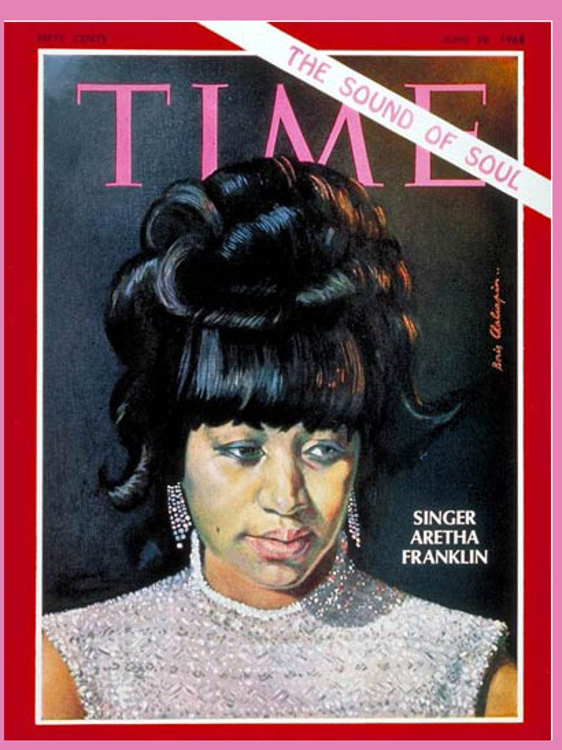 Aretha Franklin on the cover of Time magazine, June