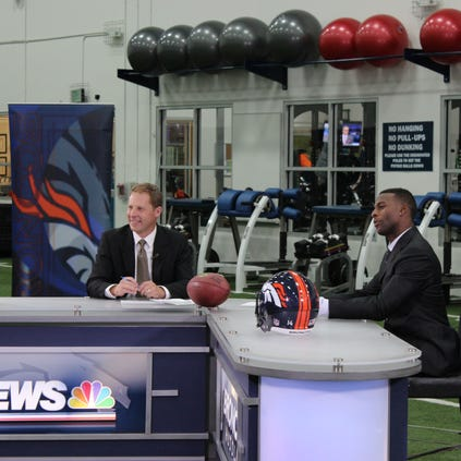Behind the scenes of the Broncos Huddle with Rod Mackey, Emmanuel Sanders, and Jacob Tamme