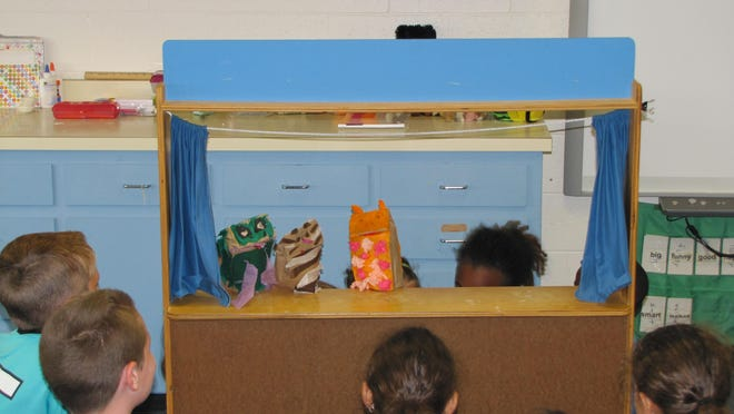 Students at the Indian River School District's Spanish immersion summer camp put on a puppet show entirely in Spanish for fellow campers.