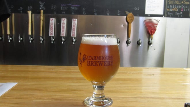 A beer poured at Farmhouse Brewery in Owego.