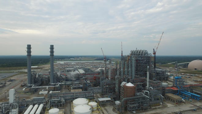 An aerial photo shows Mississippi Power's Plant Ratcliffe, the Kemper County energy facility.