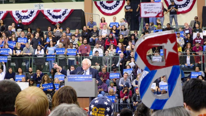 Bernie Sanders at Chicago State University on Feb. 25, 2016.