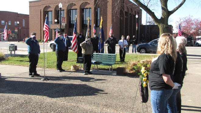 Veterans Day ceremonies were conducted at Jones Park which included saluting by veterans organizations.
