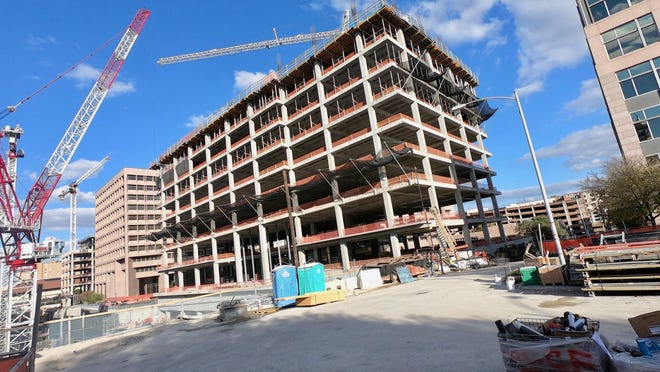 State Rep. Sheryl Cole, D-Austin, has filed legislation to name this building, under construction at 1601 N. Congress Ave., for the late U.S. Rep. Barbara Jordan, D-Houston.