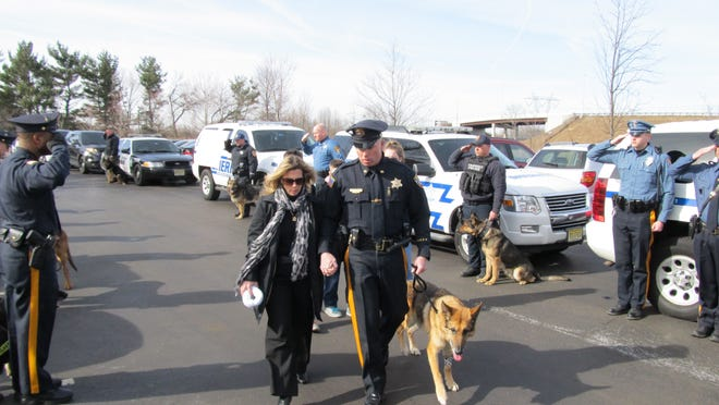 The end-of-watch ceremony Thursday for Sheriff's K-9 Officer Falko.