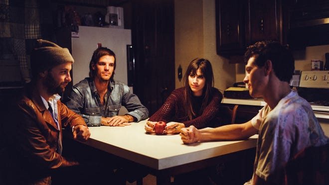 Houndmouth is Shane Cody, from left, Zak Appleby, Katie Toupin and Matt Myers, and they celebrate the release of a new album with a sold-out show Thursday at The Brown Theatre.