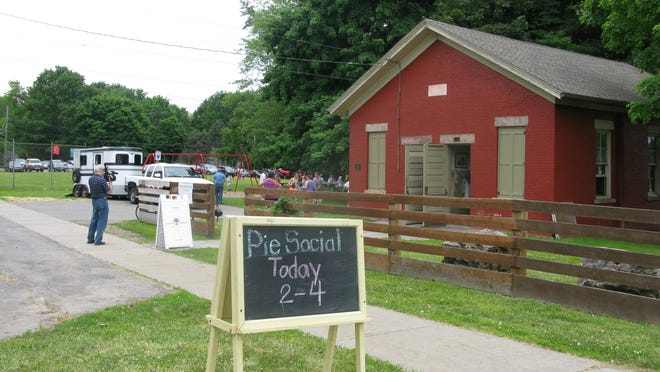 Sunday, June 9th was the Pie Social at Dayton's Corners School in Penfield.