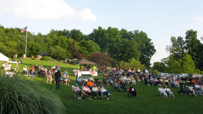 "A great crowd enjoyed an outdoor jazz concert as part of Penfield's ""Cool Jazz Tuesdays"" program."