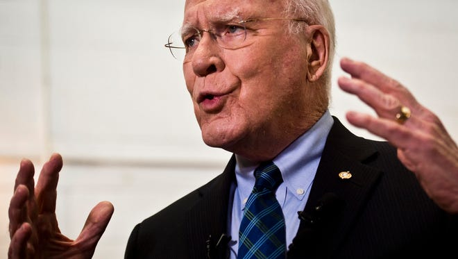 Sen. Patrick Leahy, D-VT, called on Monday for a swift confirmation process to fill a Supreme Court vacancy left by the death Saturday of Associate Justice Antonin Scalia.