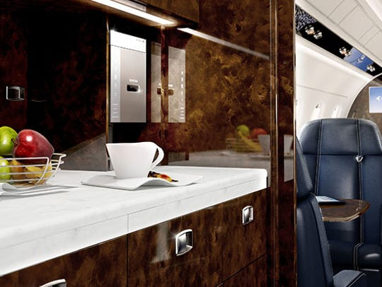 A Legacy 500 comes with a full kitchen, including a