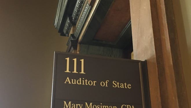 The state auditor's office at the Iowa Capitol