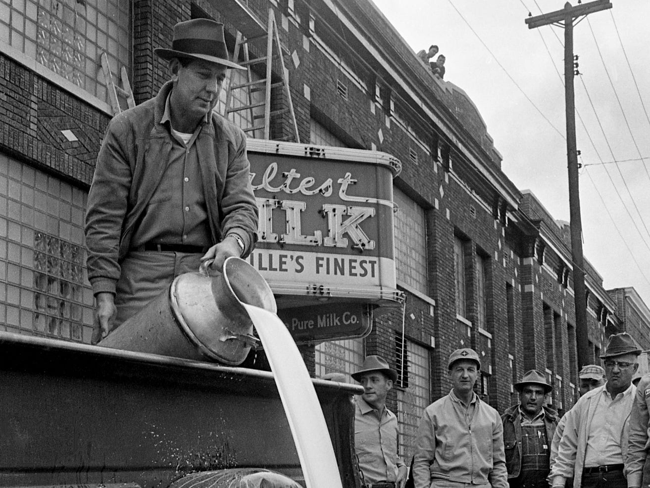 Take a look back at Nashville history with a gallery revisiting the milk shortage caused by protesting dairy farmers in 1967. Around first of February, angry dairymen, mad about the drop in the price paid them for milk from $6.